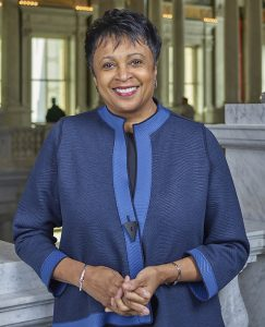 Carla Hayden, the first woman and first African American to be Librarian of Congress.