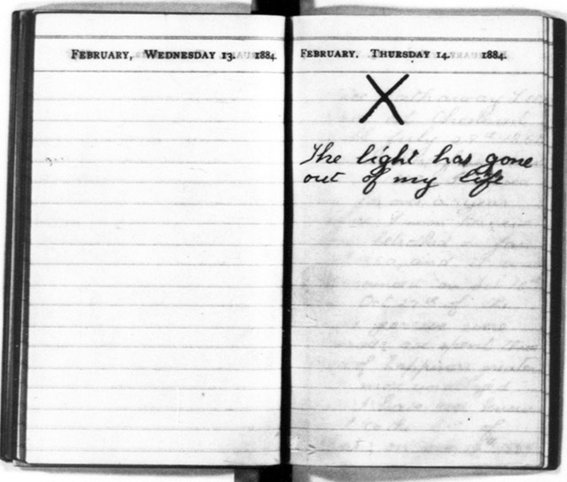 An entry from Teddy Roosevelt's diary