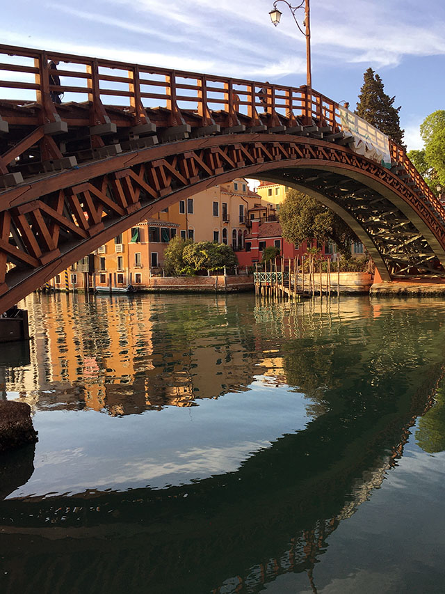 Grand Canal reflection at Accademia Bridge