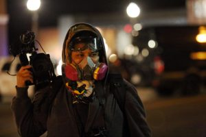 Katina Parker films in Ferguson the night of the Grand Jury Announcement acquitting Officer Darren Wilson for the killing of 18-year old Mike Brown, Jr.