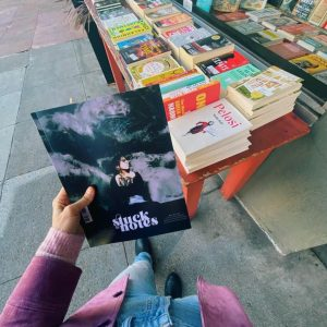 A copy of the second issue of Stuck in Notes outside Browser Books where it was sold.