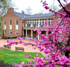 Porter Byrum Welcome Center in the spring.