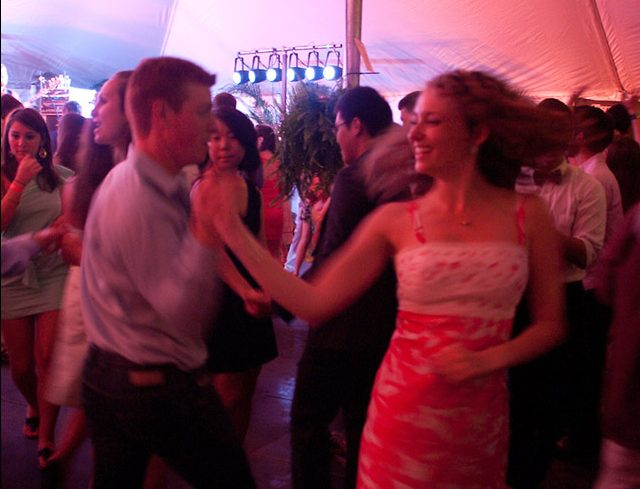 Wake Forest Student Union hosts the annual Shag on the Mag dance on the Magnolia Quad