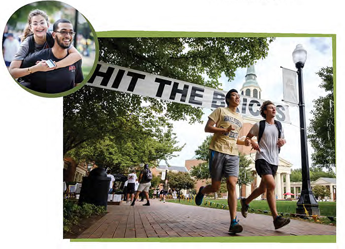 Hit the Bricks is held annually on Hearn Plaza.