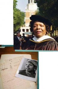 Former Reynolds Professor of American Studies, Maya Angelou