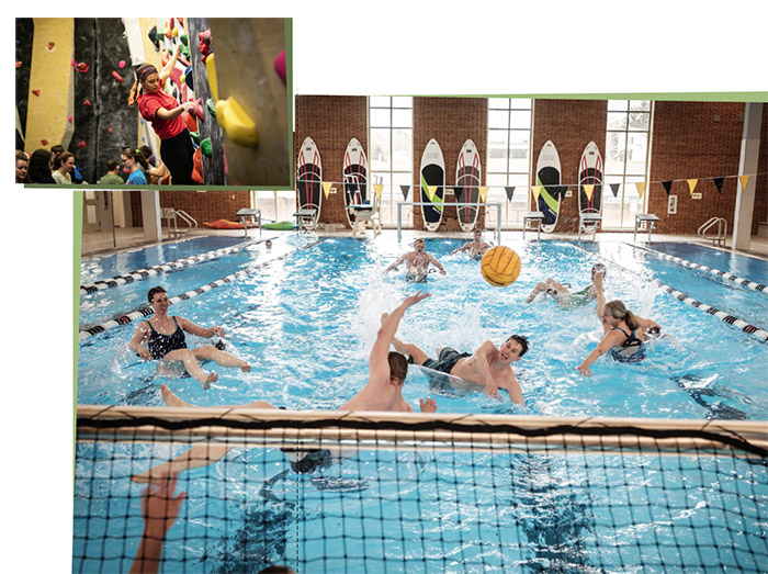 The Wake Forest Well Being Center officially opened in 2018 with an enhanced pool, rock-climbing wall, and much more.