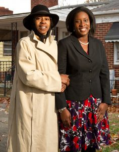 In 2010, then-law student Ashleigh Wilson (JD '11), right, helped prevent foreclosure for homeowner Tonya Williams through a law school clinic.