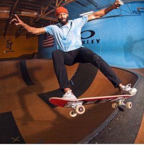 Matt James ('14) flies high on a skateboard
