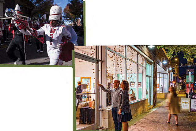 Beloved local traditions include the Winston-Salem State Homecoming Parade and the First Friday Gallery Hops in the Downtown Art District.