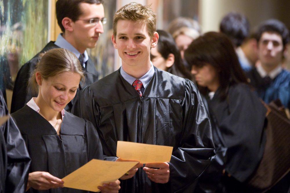 Seniors Caroline Kirwin and Darren Lindamood were among those inducted into Phi Beta Kappa on April 16.