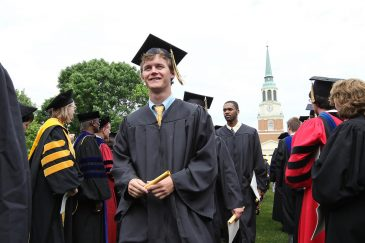 Wake Forest University holds its annual Commencement ceremony on Hearn Plaza on Monday, May 16, 2011.