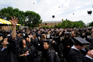 2011 Commencement ceremony on Hearn Plaza