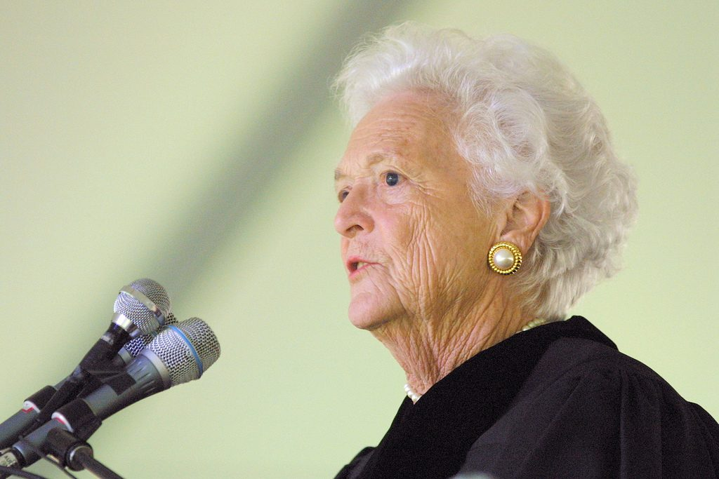 Former first lady Barbara Bush