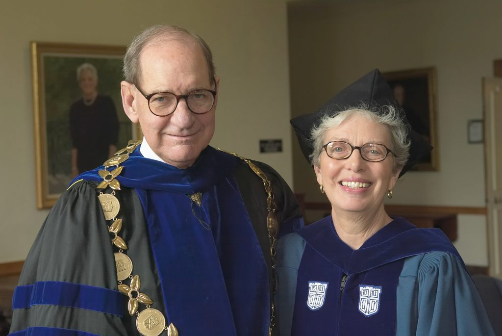 WFU President Thomas K. Hearn, Jr., and Baccalaureate Speaker Jane Crosthwaite