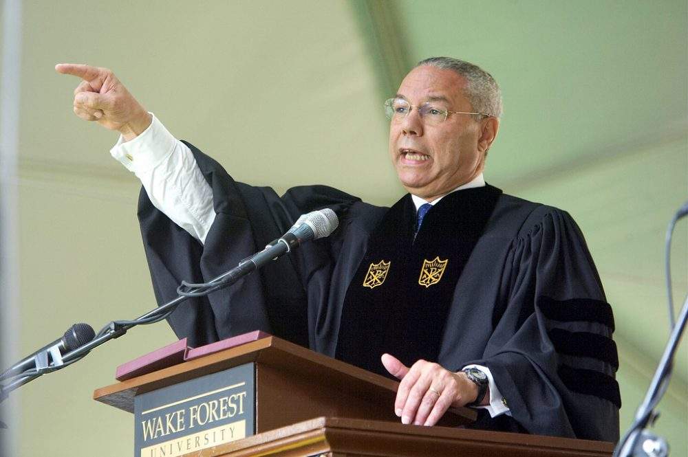 burkean analysis of colin powell speech Obama's right wing  colin powell, who had served as secretary of state under george w bush, provided a high-profile endorsement for obama  the problem with burkean conservatives is.