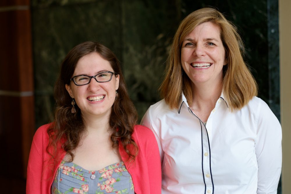 Michele Gillespie (History) and Julie Huggins (English major)