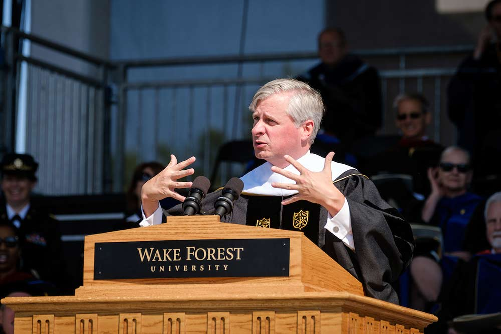 Writer Jon Ellis Meacham gives the commencement address