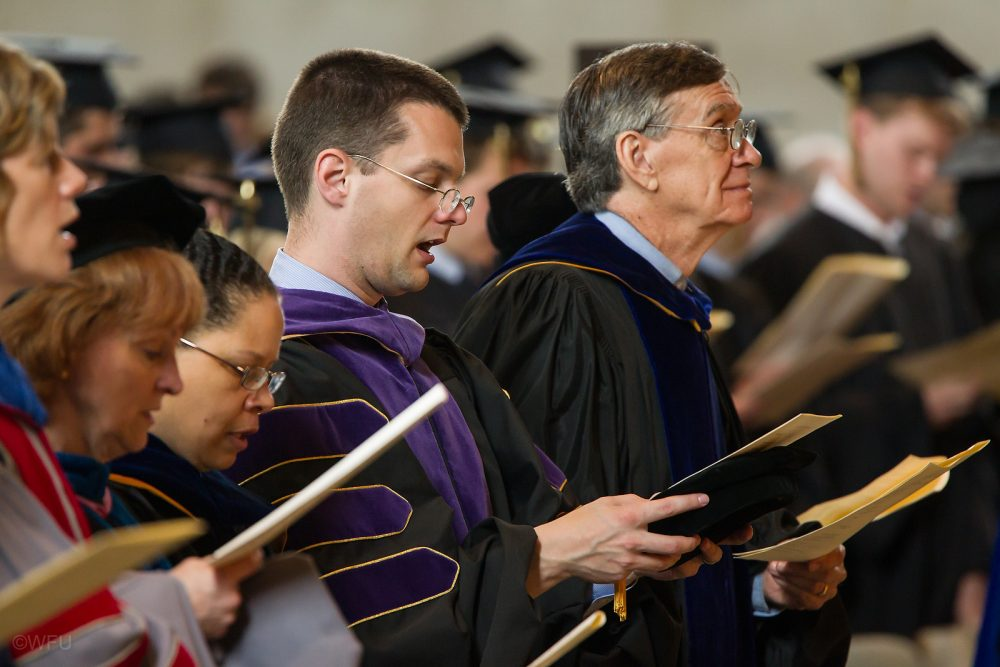 Wake Forest University holds a Baccalaureate Service for new graduates in Wait Chapel on Sunday, May 19, 2013.
