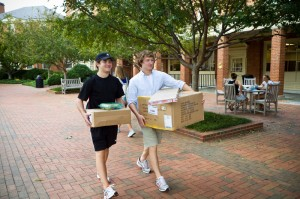 Students with packages