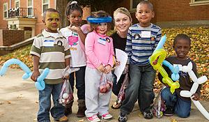 Children at Project Pumpkin