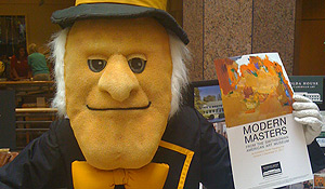 Demon Deacon and a Masters poster