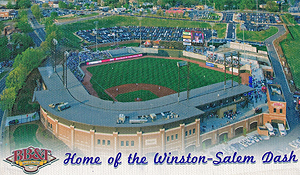 Winston-Salem Dash park from the air