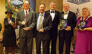 WFU representatives pose with their awards.