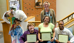 Front row, from left: Ellen Makaravage, Doris Jones, Travis Manning; Standing: Dean Lynn Sutton