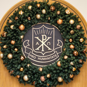 Wreath and WFU seal