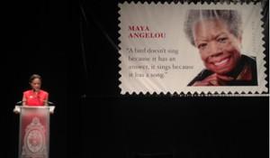 Melissa Harris-Perry and Maya stamp