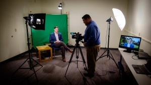 on a television broadcast in the new studio in ZSR.