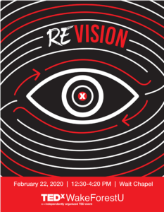 Poster for TEDxWakeForestU event 2020