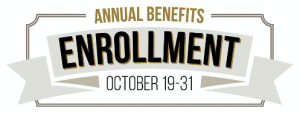 Annual Benefits Enrollment logo: October 19-31