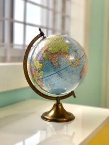 Photo of globe on a desk