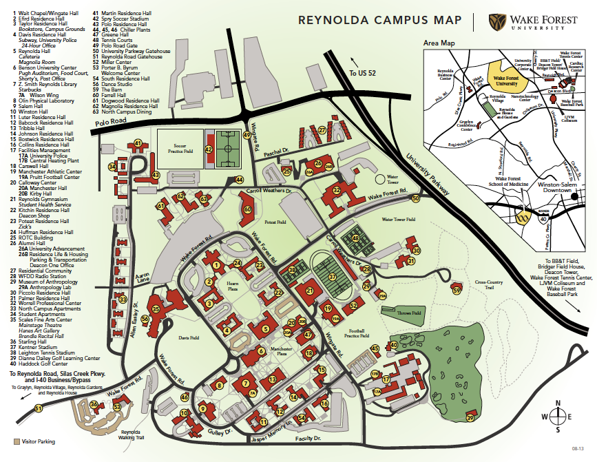 Wake Forest Campus Map Secrest Artists Series | Visiting