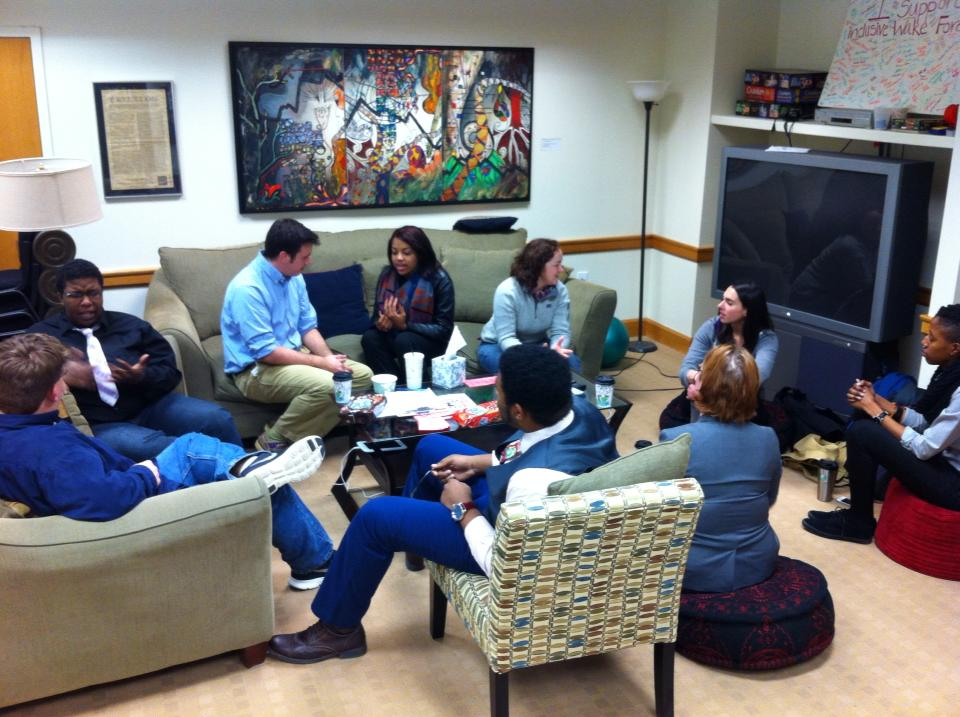 Kaleidoscope, the LGBTQA group from the WFU School of Divinity, hosts Coffee hour.