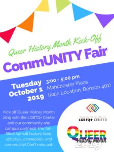 CommmUNITY Fair 3-5 pm October 1