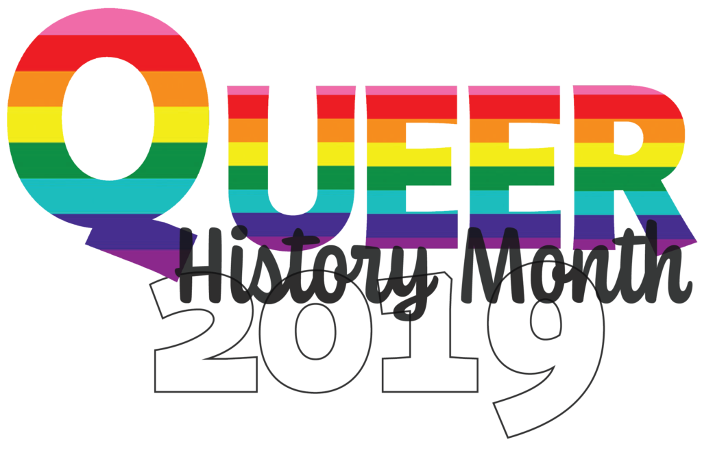 Queer History Month 2019 logo