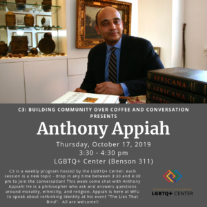 C3 with Anthony Appiah, more info below