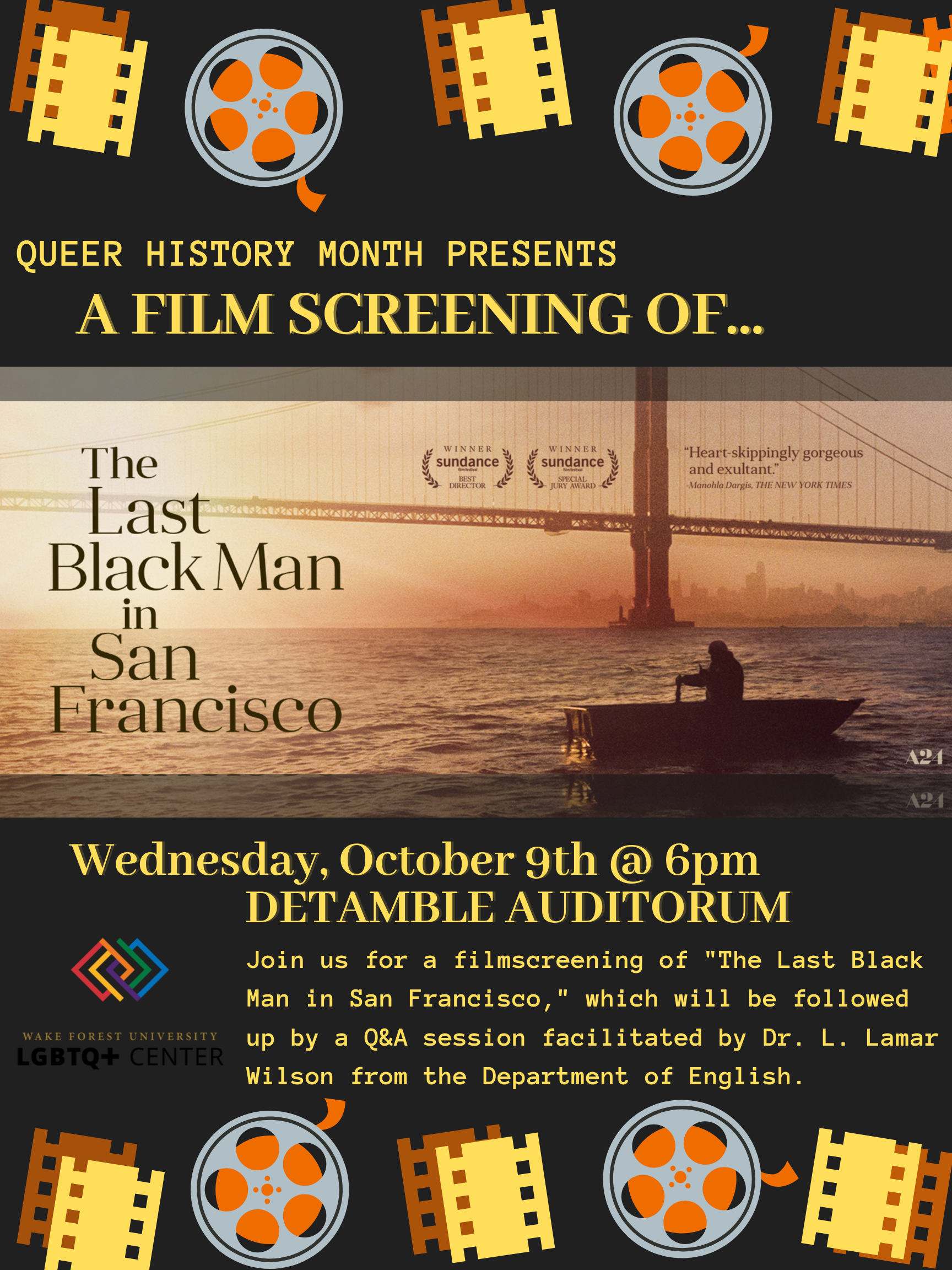 Announcement of Film Screening for the Last Black Man in San Francisco held October 4, 2019