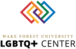 multicolor logo of LGBTQ+ Center