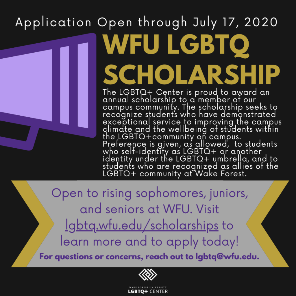 Announcement of scholarship with text; text is also included below image