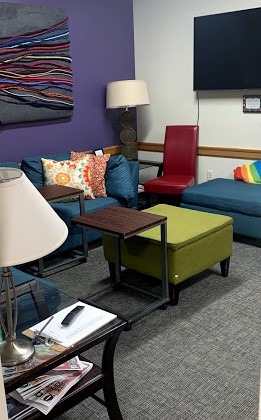 View from the doorway and to the left in the LGBTQ+ Center