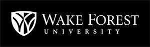 WFU Logo Horizontal White