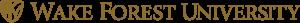 WFU Single Line logo gold