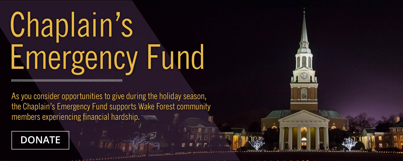 Chaplain's Emergency Fund Web Banner
