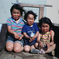 Three Yupik Children