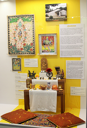 Hindu section of exhibit