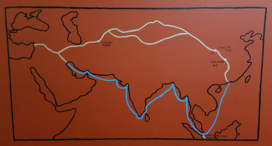 Silk Roads Map