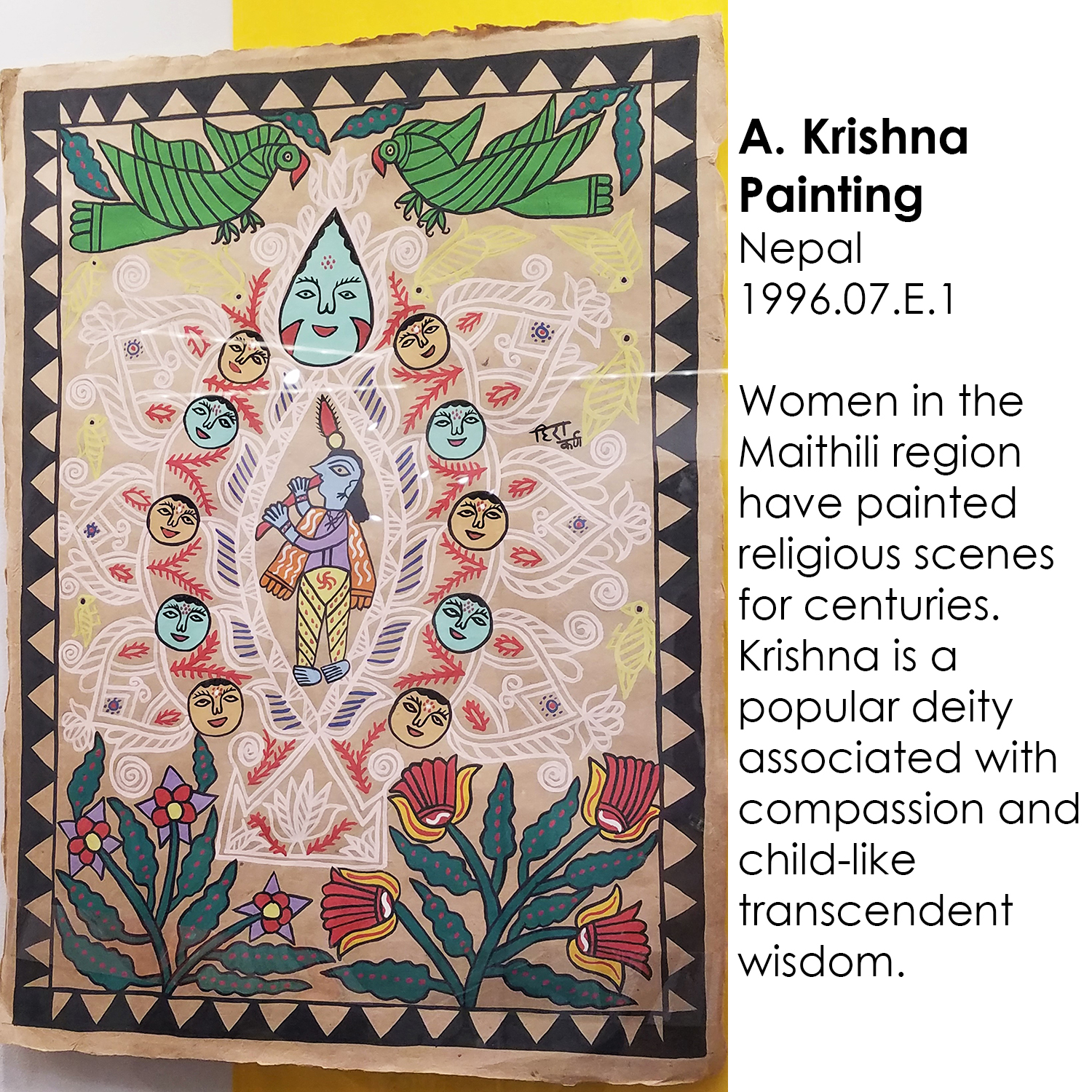 Krishna Painting from Nepal